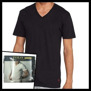 RALPH LAUREN 2XL Classic Fit Wicking V-Neck 3-Pack